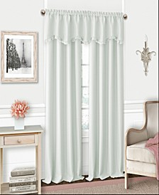 Kids' Adaline Faux-Silk Blackout Rod Pocket Curtain Panel & Valance Collection