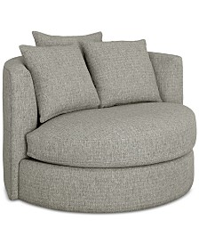 LIMITED AVAILABILITY Mylie Fabric Swivel Chair,  Created For Macy's