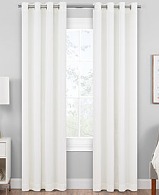 "Hudson Hill Raw Faux-Silk 50"" x 84"" Grommet Window Panel"
