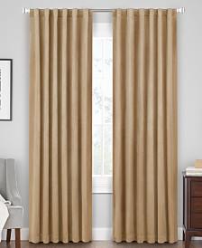 Hudson Hill Velvet Rod Pocket/Tab Top Window Panels
