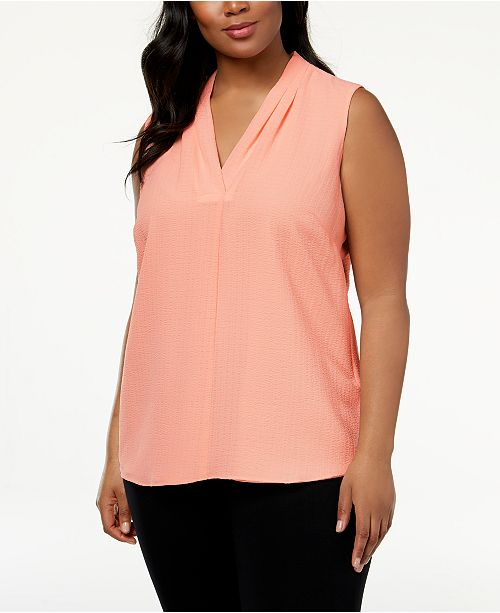 Plus Size Crinkle Top