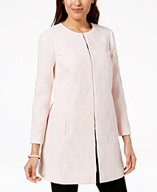 Alfani Petite Textured A-Line Jacket, Created for Macy's