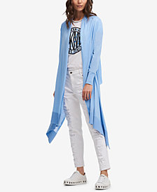 DKNY Open Asymmetrical-Hem Duster Cardigan