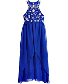 Crystall Doll Hand-Beaded Maxi Dress, Big Girls
