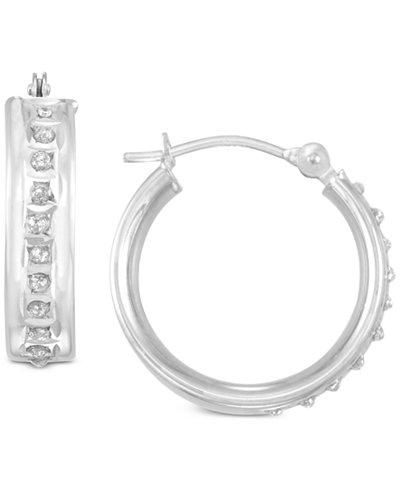 Diamond Fascination Accent Hoop Earrings