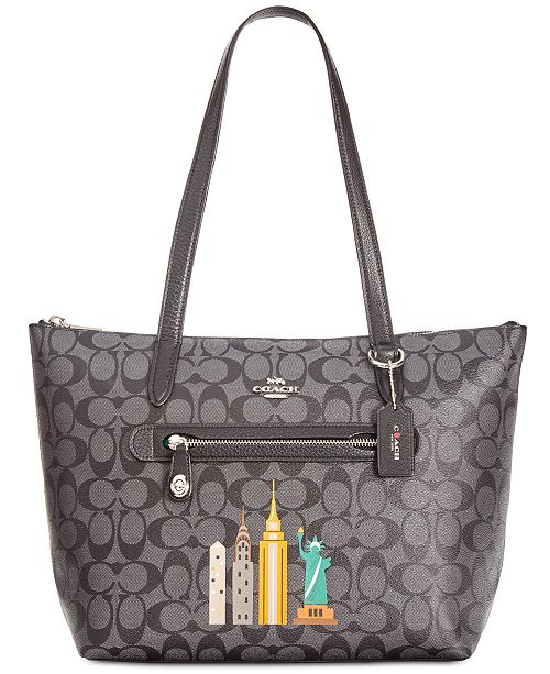 deec7cf91f ... COACH NY Stories Skyline Signature Taylor Tote