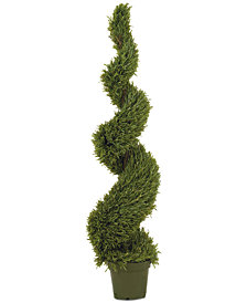 Nearly Natural 5' Rosemary Indoor/Outdoor Spiral Tree