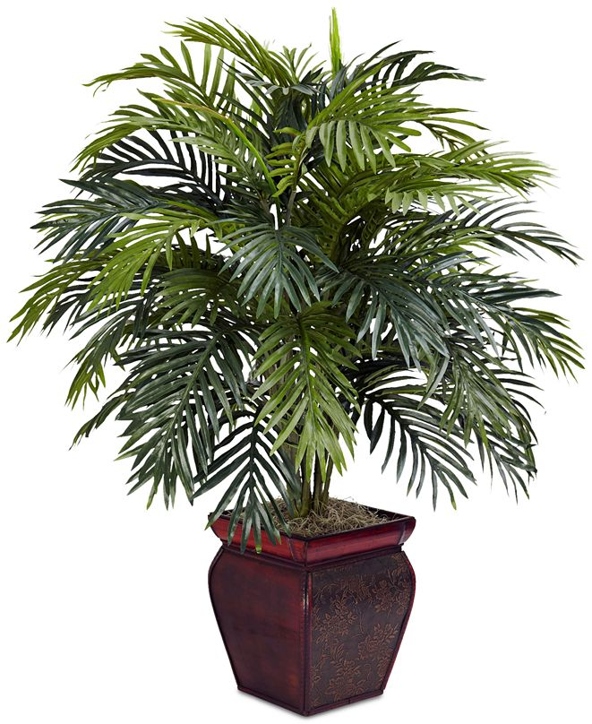 Nearly Natural Areca Palm Plant with Decorative Planter