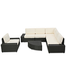 Tatum Outdoor 7-Pc. Sofa Set, Quick Ship