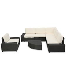 Tatum Outdoor 7-Pc. Sofa Set, Quick Ship