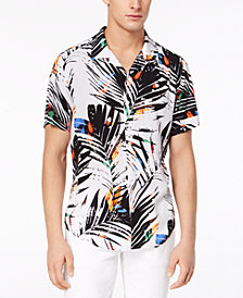 GUESS Men's Paint Splatter Palm Shirt