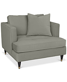 "Jennova 41"" Fabric Armchair - Custom Colors, Created For Macy's"
