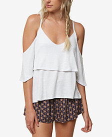 O'Neill Juniors' Jupiter Cold-Shoulder Popover Top