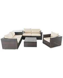 Manhattan Outdoor 7-Pc. Sofa Set, Quick Ship