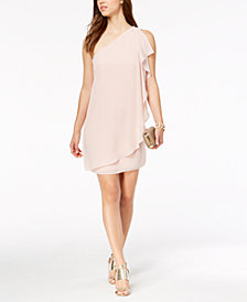 Vince Camuto One-Shoulder Ruffled Dress