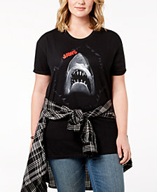 Hybrid Plus Size Cotton Jaws T-Shirt