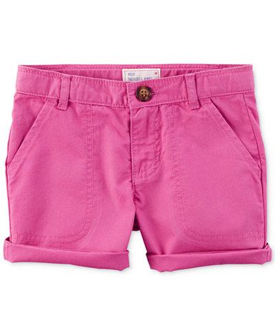 Carter's Cotton Twill Roll-Cuff Shorts, Little & Big Girls