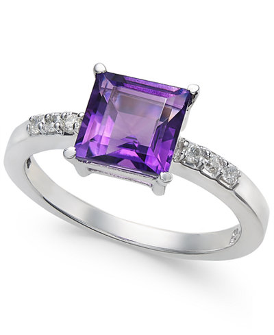 Amethyst (1-3/4 ct. t.w.) & Diamond Accent Ring in 14k White Gold