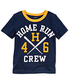 Carter's Baseball Graphic-Print Cotton T-Shirt, Little Boys