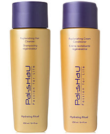 Pai Shau Replenishing Hair Cleanser & Cream Conditioner (Two Items), 8.4-oz., from PUREBEAUTY Salon & Spa