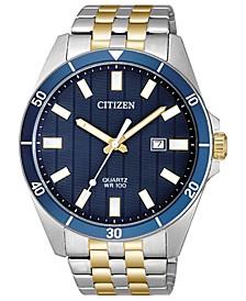 Men's Quartz Two-Tone Stainless Steel Bracelet Watch 42mm