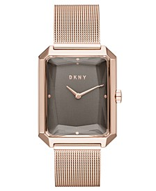 Women's Cityspire Rose Gold-Tone Stainless Steel Mesh Bracelet Watch 27x34mm, Created for Macy's