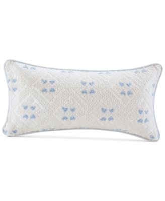 "Ravi 10"" x 20"" Embroidered Cotton Oblong Decorative Pillow"