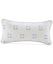 "Echo Ravi 10"" x 20"" Embroidered Cotton Oblong Decorative Pillow"