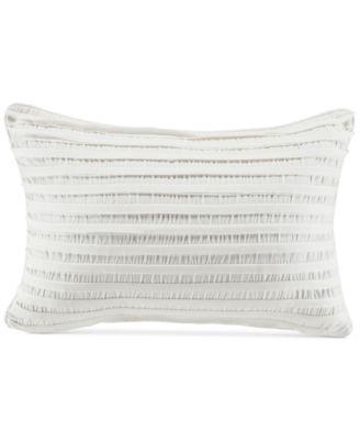 "CLOSEOUT! Willa Pieced Stripe 19"" x 13"" Boudoir Decorative Pillow"