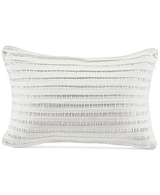 "CLOSEOUT! Croscill Willa Pieced Stripe 19"" x 13"" Boudoir Decorative Pillow"