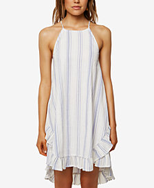 O'Neill Juniors' Rooney Cotton Striped Ruffle Dress