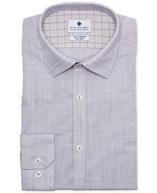 Ryan Seacrest Distinction™ Men's Ultimate Slim-Fit Non-Iron Performance Stretch End on End Check Dress Shirt, Created for Macy's
