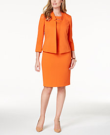 Kasper Textured Flyaway Blazer & Cutout Sheath Dress