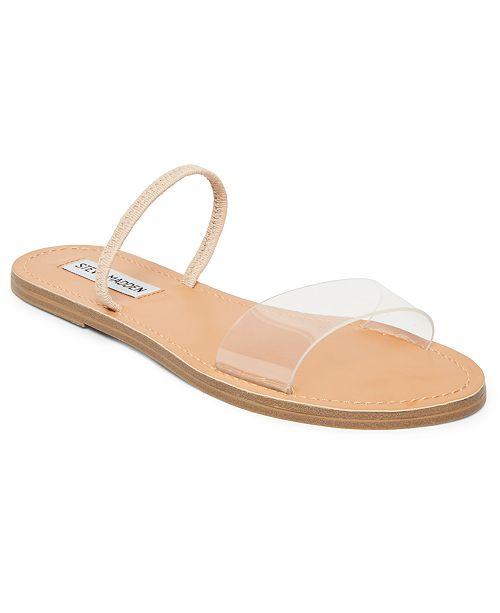d00a64a94 Steve Madden Women s Dasha Lucite Flat Sandals   Reviews ...