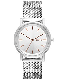 Women's SoHo Stainless Steel Mesh Bracelet Watch 34mm, Created for Macy's