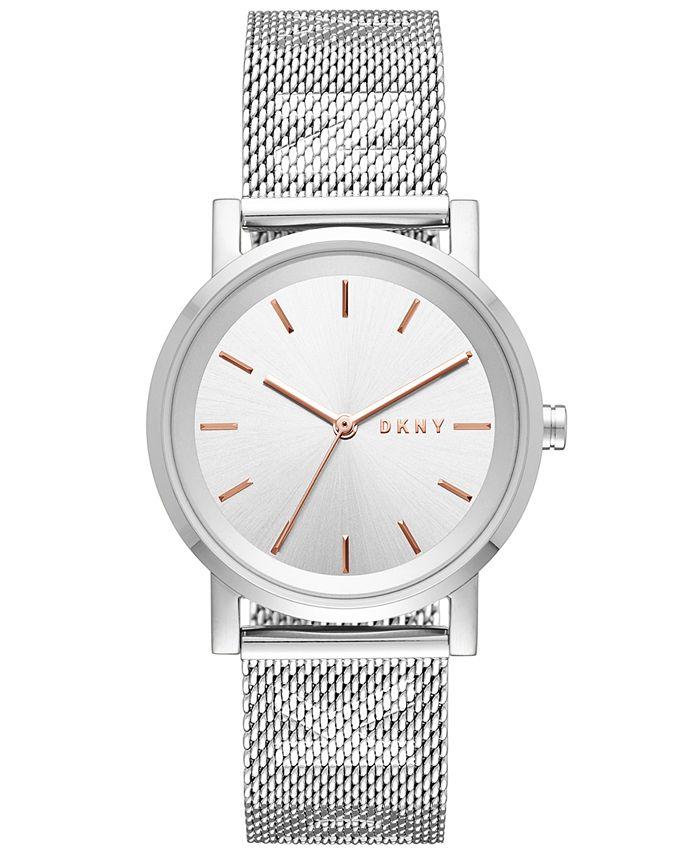 DKNY - Women's SoHo Stainless Steel Mesh Bracelet Watch 34mm