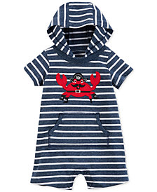 Carter's Baby Boys Hooded Cotton Romper