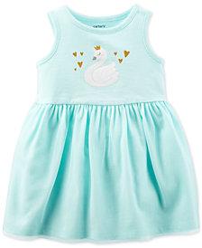 Carter's Baby Girls Swan-Print Sundress