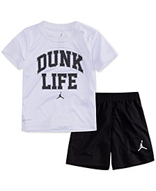 Jordan 2-Pc. Dunk Life T-Shirt & Shorts Set, Little Boys