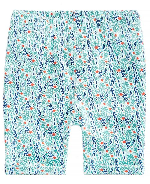 Printed Bermuda Shorts, Baby Girls, Created for Macy's
