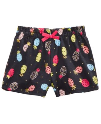 Baby Girls Pineapple-Print Cotton Shorts,  Created for Macy's