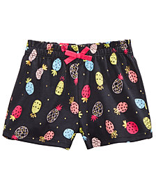 First Impressions Baby Girls Pineapple-Print Cotton Shorts,  Created for Macy's
