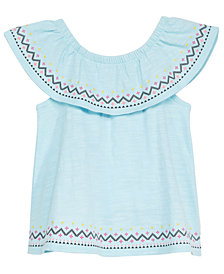 First Impressions Baby Girls Flounce Cotton Tunic, Created for Macy's