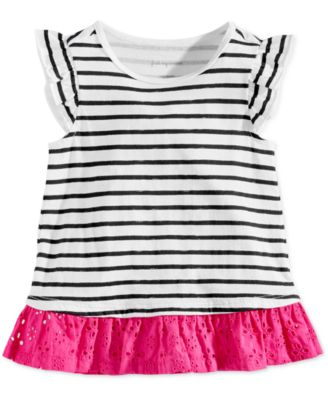 Baby Girls Striped Cotton Tunic, Created for Macy's