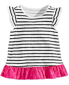 First Impressions Baby Girls Striped Cotton Tunic, Created for Macy's