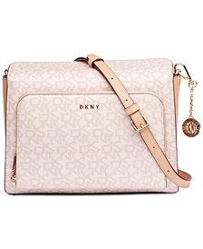 DKNY Bryant Pocket Signature Crossbody, Created for Macy's
