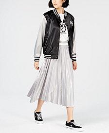 NICOPANDA Satin Graphic Varsity Jacket, Created for Macy's