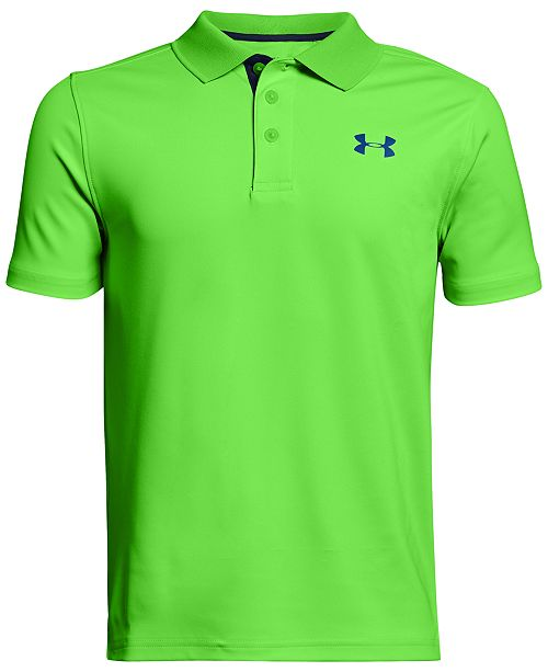 4b3ebbbe Under Armour Performance Polo Shirt, Big Boys & Reviews - Shirts ...