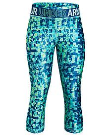 Under Armour HeatGear® Printed Capri Leggings, Big Girls