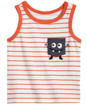 First Impressions Striped MonsterPocket Cotton Tank Top Baby Boys Created for Macys